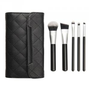 PF0224 5-pc make up brush set w/cosmetic bag