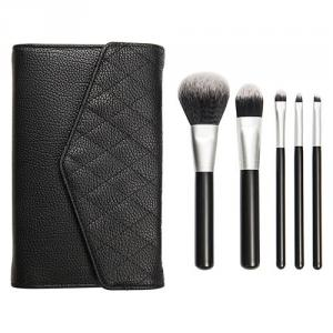 PF0226L 5-pc make up brush set w/cosmetic bag