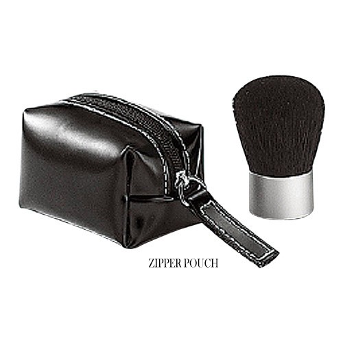 W1009 Kabuki Brush With Zipper Pouch Or Hard Case Set